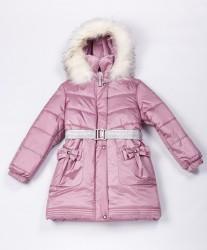 Зимнее пальто для девочки lenne maria 20328/122 розовое