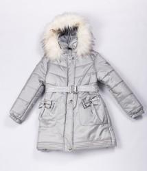 Зимнее пальто для девочки lenne maria 20328/255 металлик