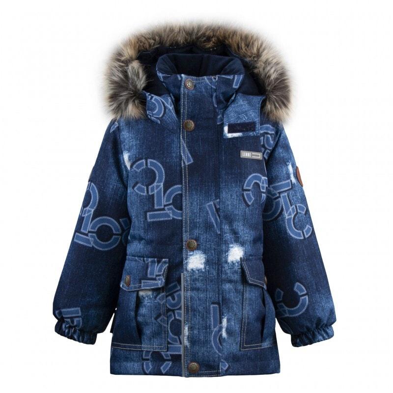Lenne Wolfie удлинённая куртка парка для мальчика синяя