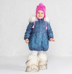 Зимнее теплое пальто для девочки lenne estella 19334/2009