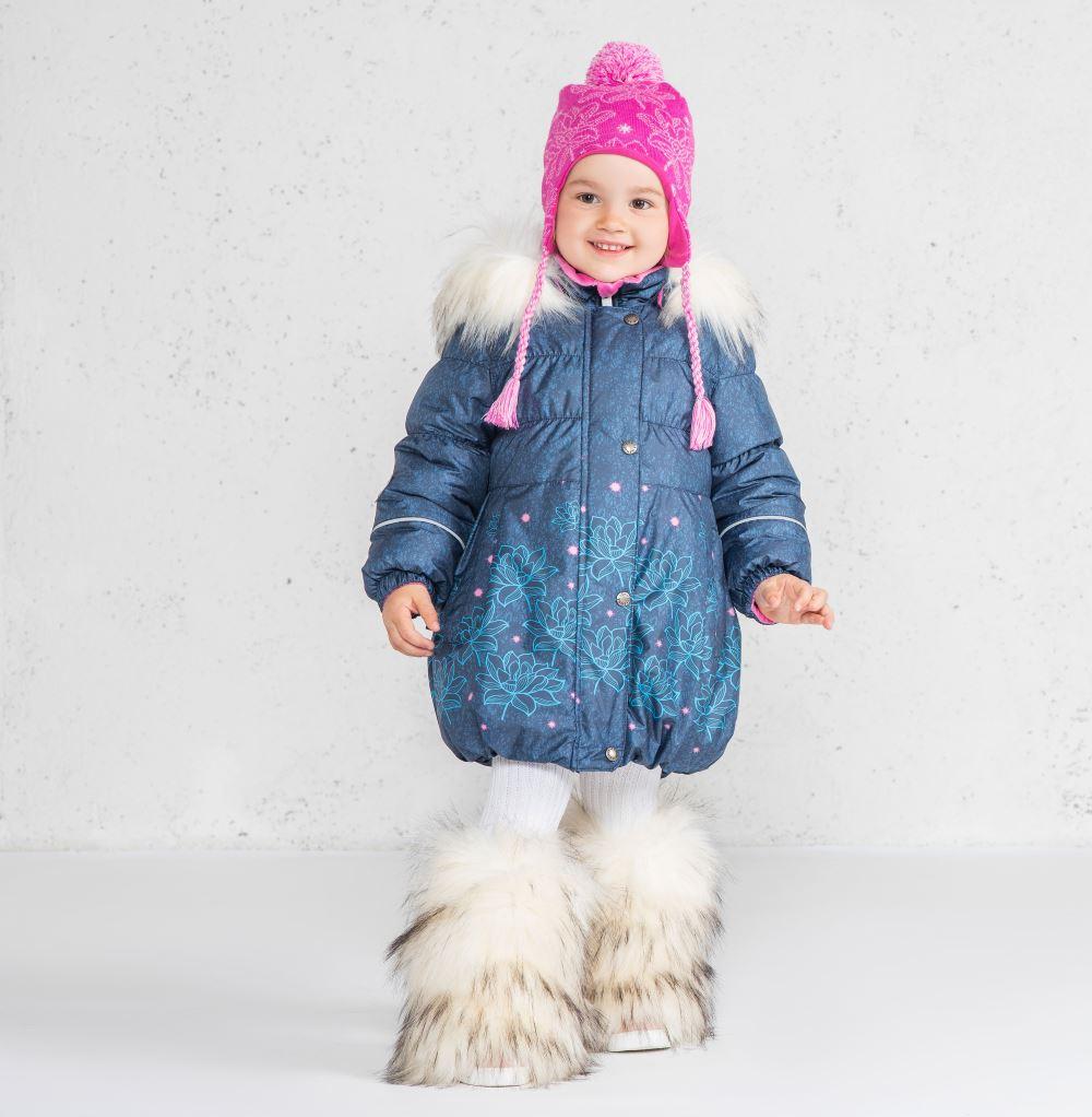 Lenne Estella пальто для девочки синие