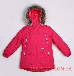 Lenne Miriam удлиненная куртка парка для девочки ягодная