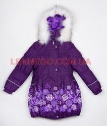Lenne Stella пальто для девочки темно-сиреневое