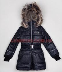 Пальто для девочки lenne greta черное