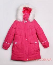 Lenne Liisa пальто для девочки малиновое