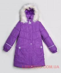 Lenne Liisa пальто для девочки фиолетовое
