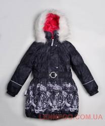 Пальто для девочки lenne stella серое