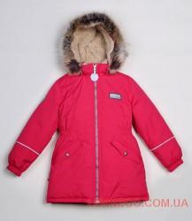 Lenne Ally удлиненная куртка парка для девочки малиновая
