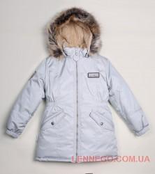 Lenne Ally удлиненная куртка парка для девочки металлик