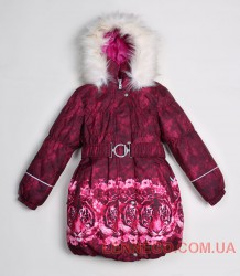 Пальто для девочки lenne stella бордовое