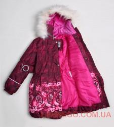 Lenne Stella пальто для девочки бордовое