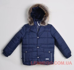 Зимняя куртка для мальчика lenne gent темно-синяя