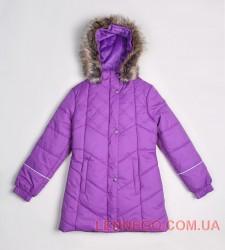 Зимнее пальто для девочки lenne pealry темно-фиолетовое
