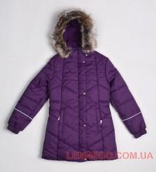 Зимнее пальто для девочки lenne pealry баклажан