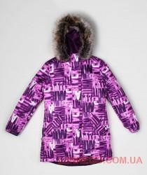 Зимнее куртка парка для девочки lenne tiffy фиолетововая 17363A/1620