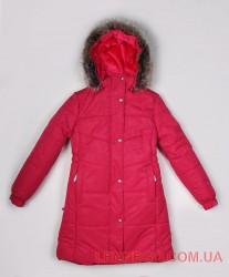 Пальто для девочки lenne isabel малиновое