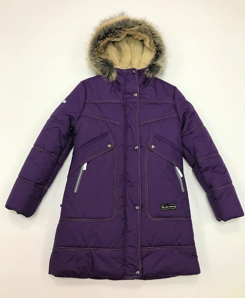Lenne Joy пальто для девочки баклажан