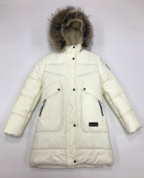 Lenne Joy пальто для девочки молочное