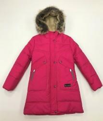 Lenne Joy пальто для девочки малиновое