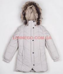 Зимнее пальто для девочки pearl бежевое