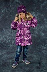 Lenne Ally удлиненная куртка парка для девочки фиолетовая