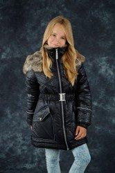 Lenne Greta пальто для девочки черное, подросток   (1)