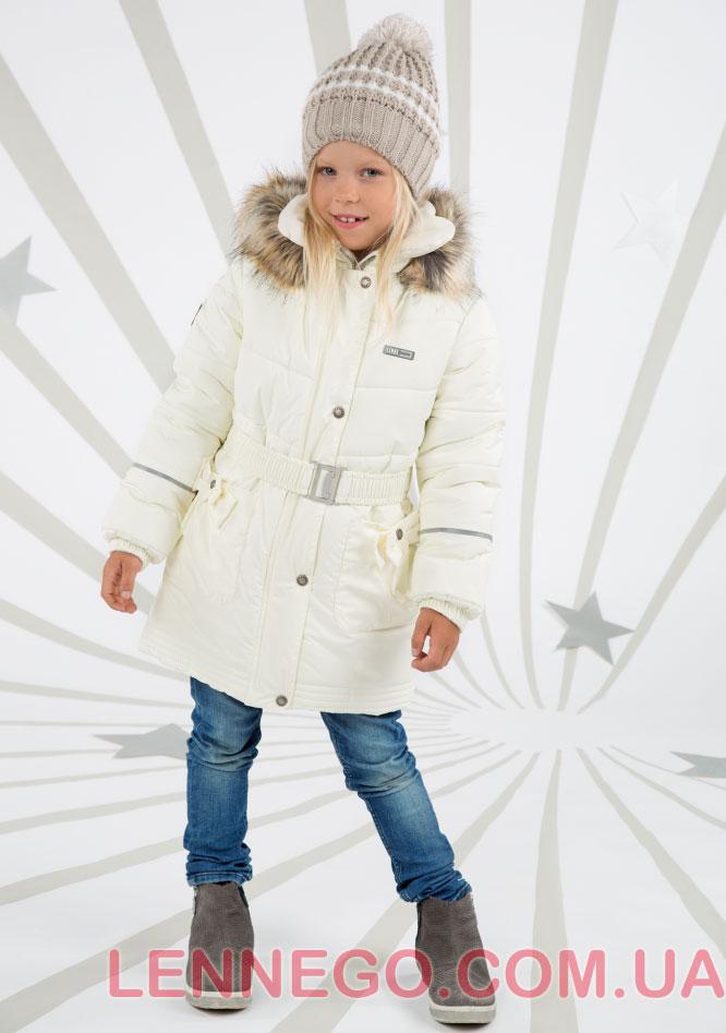 Lenne Sheryl пальто для девочки молочное