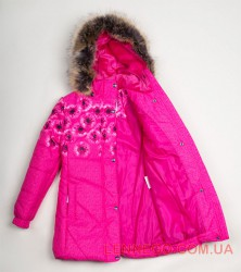 Lenne Keira пальто для девочки малиновое