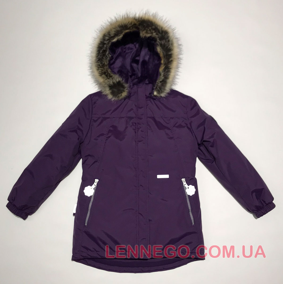Lenne Marion удлиненная куртка парка для девочки баклажан