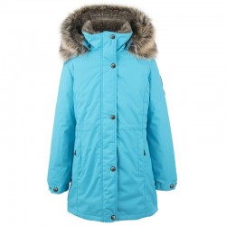 Lenne Edna куртка парка для девочек и молодых мам 20671/663 бирюзовая