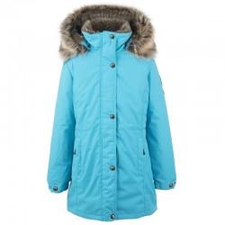 Lenne Edna куртка парка для девочек и молдых мам 20671-663 бирюзовая (1)