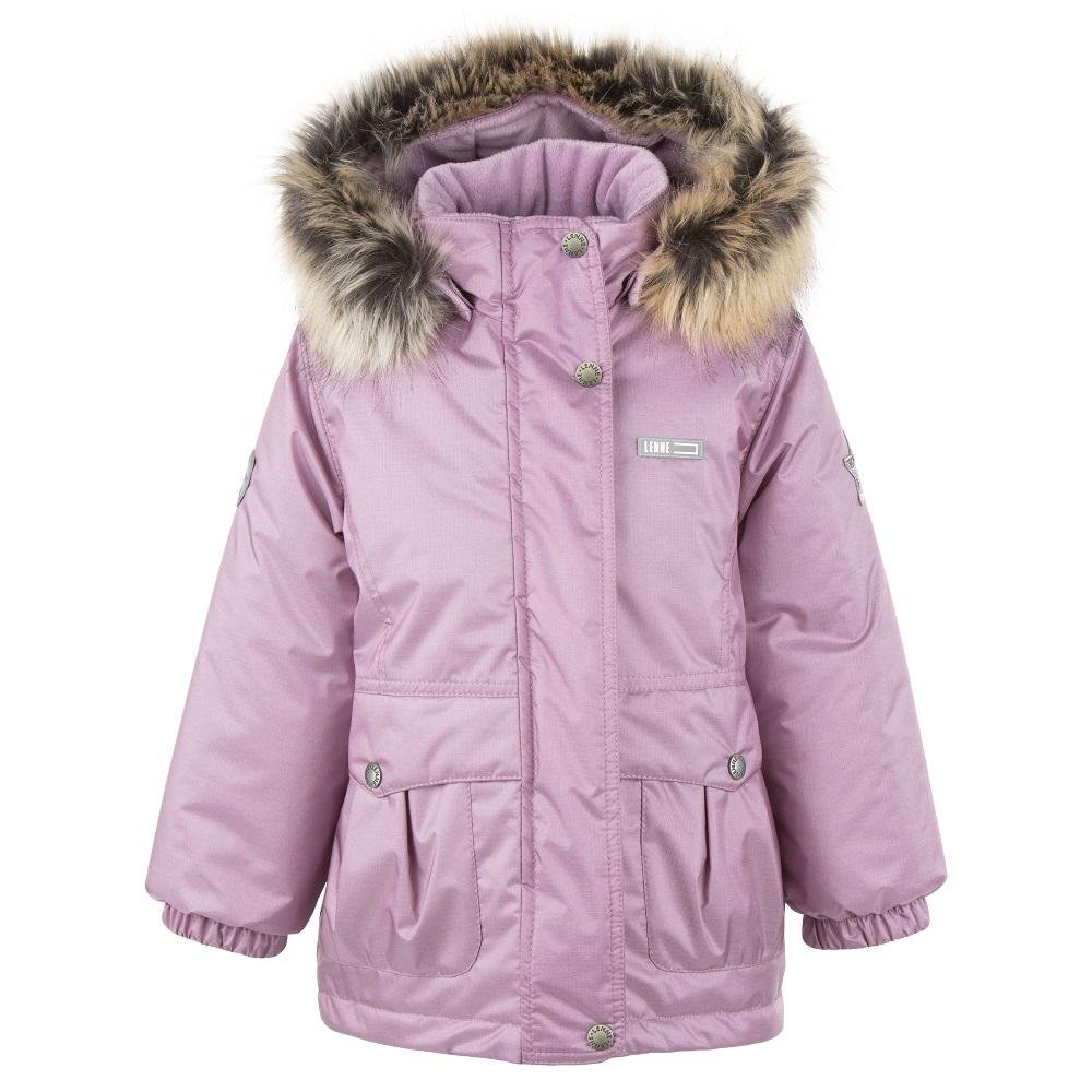 Lenne Perla удлиненная куртка парка для девочки 20332-122 розовая