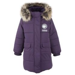 Зимнее теплое пальто для девочки lenne leanna 20333/6121 баклажан