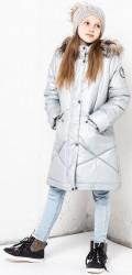 Lenne Gudrun пальто для девочки серебро
