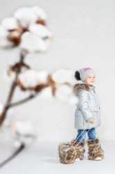 Lenne Perle куртка для девочки серебро