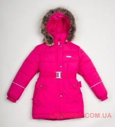 Зимнее пальто для девочки Lenne Sheryl 18335/261 малиновое