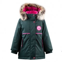 Lenne Miriam удлиненная куртка парка для девочки зеленая