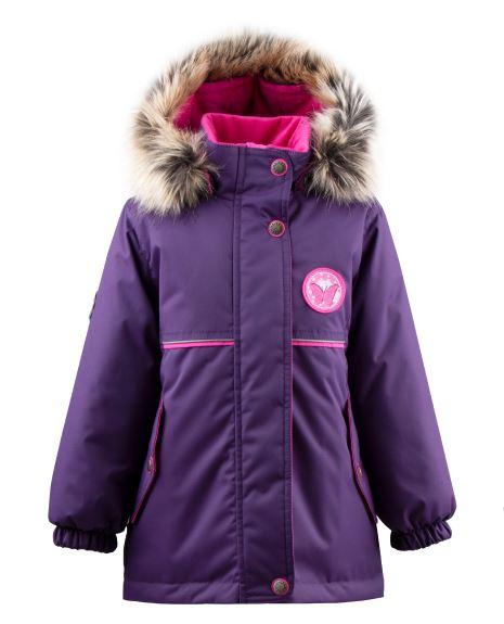Lenne Miriam удлиненная куртка парка для девочки баклажан