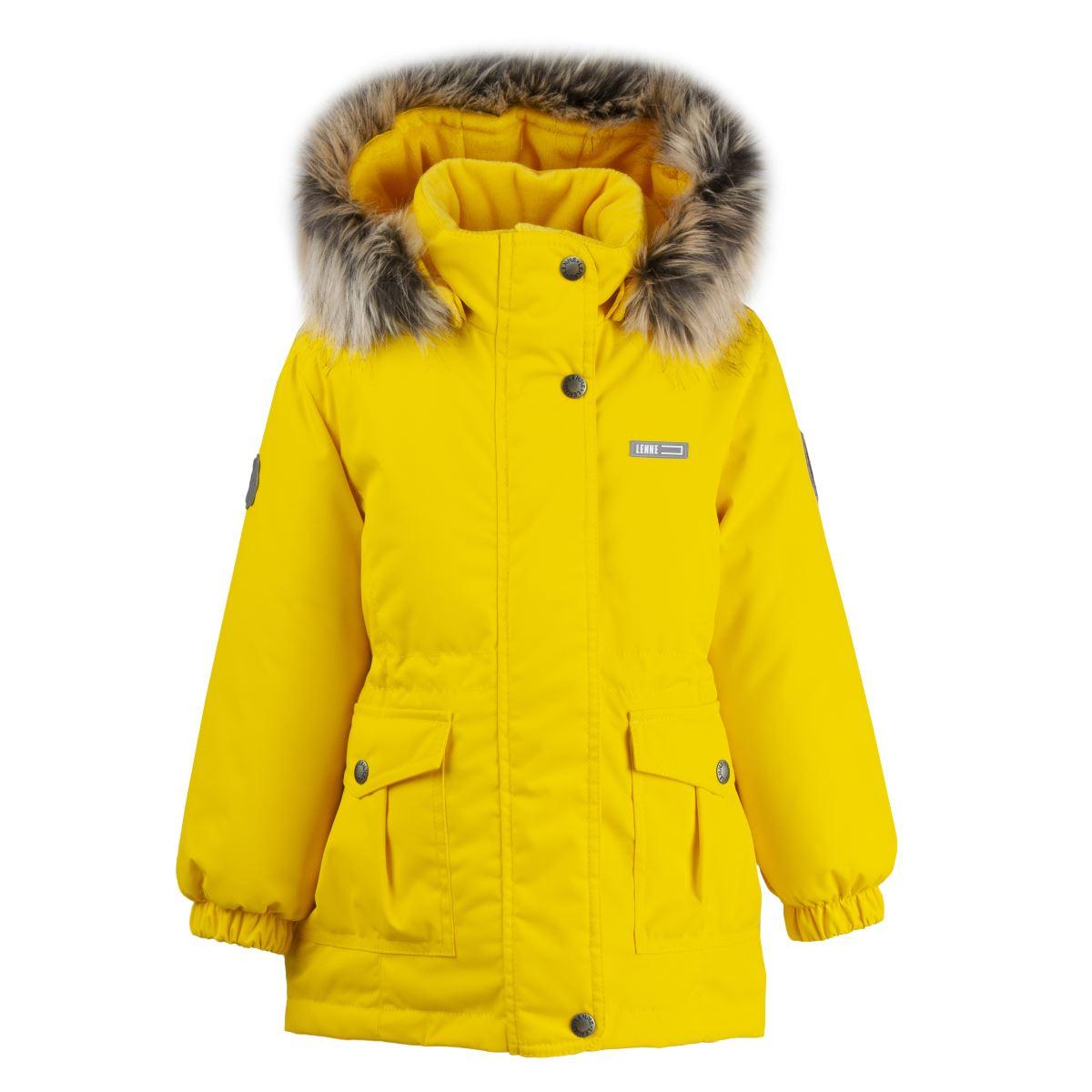 Lenne Maya удлиненная куртка парка для девочки жёлтая