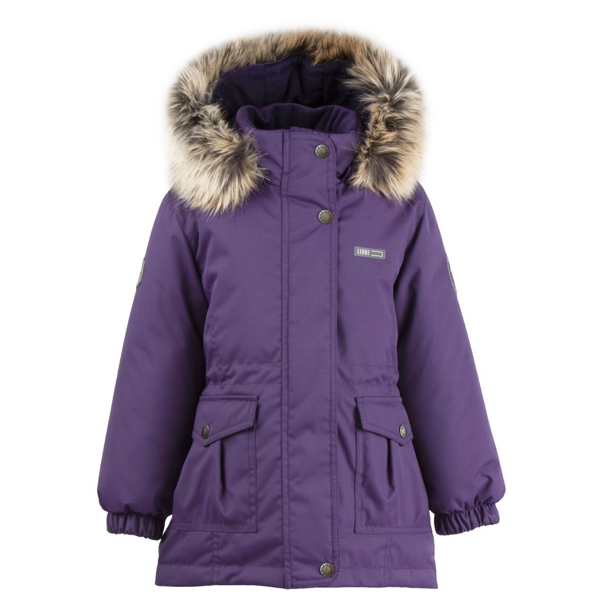 Lenne Maya удлиненная куртка парка для девочки баклажан