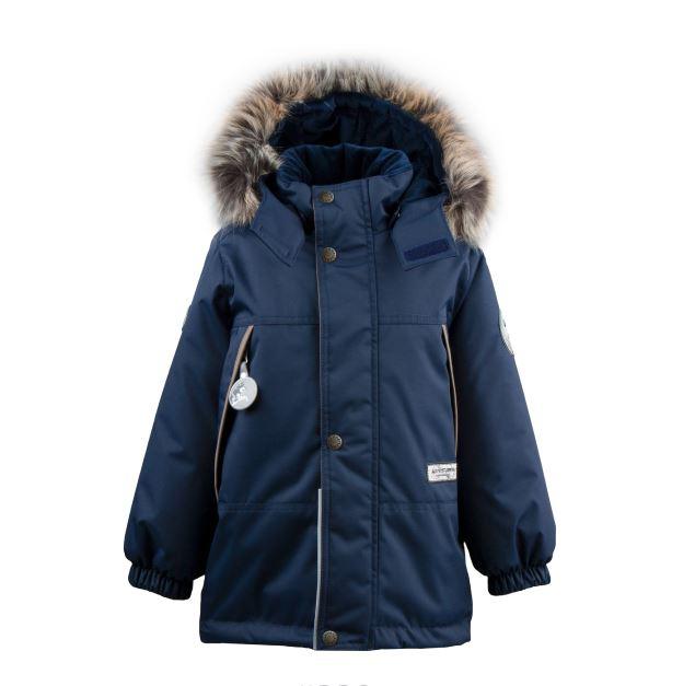 Lenne Mick удлиненная куртка парка для мальчика тёмно-синяя