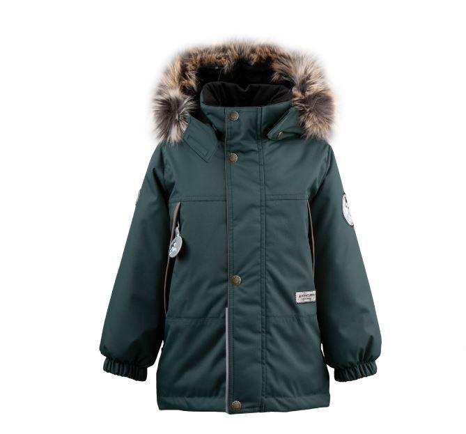 Lenne Mick удлиненная куртка парка для мальчика зелёная
