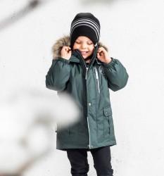 Lenne Snow удлиненная куртка парка для мальчика зелёная