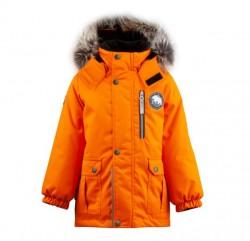 Lenne Snow удлиненная куртка парка для мальчика оранжевая