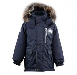 Lenne Snow удлиненная куртка парка для мальчика тёмно-синий граффит