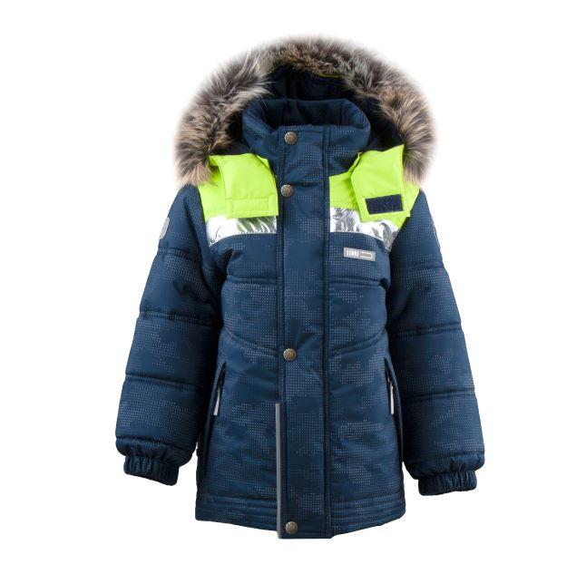 Lenne Nordic удлиненная зимняя куртка для мальчика салатовая