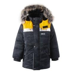 Lenne Nordic удлиненная зимняя куртка для мальчика оранжевая