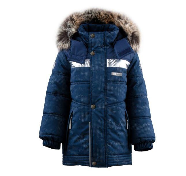 Lenne Nordic удлиненная зимняя куртка для мальчика темно-синяя