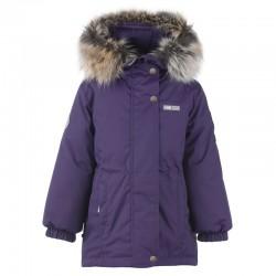 Lenne Maya удлиненная куртка парка для девочки 20330-612 баклажан