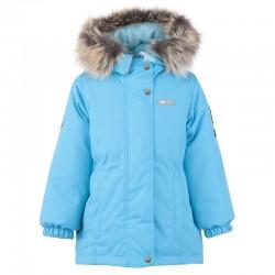 Lenne Maya удлиненная куртка парка для девочки 20330-663 бирюзовая